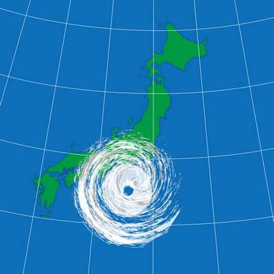 台風の予想円